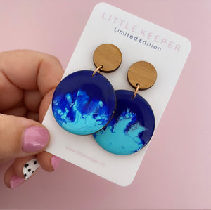 Inked XL Disk Drop Earrings