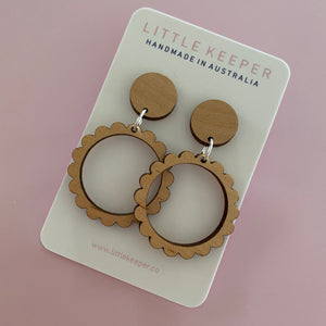 Scalloped Mid Hoops