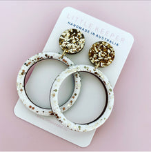 Load image into Gallery viewer, Inked Hoop Earrings