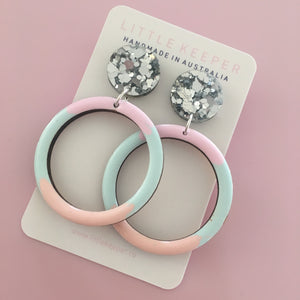 Inked Hoop Earrings
