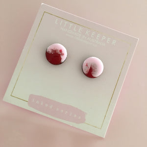 Inked Stud Earrings