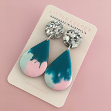 Load image into Gallery viewer, Inked Wide Drop Earrings