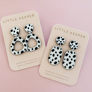 Pebble Print Drop Earrings