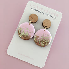 Load image into Gallery viewer, Inked Disk Drop Earrings