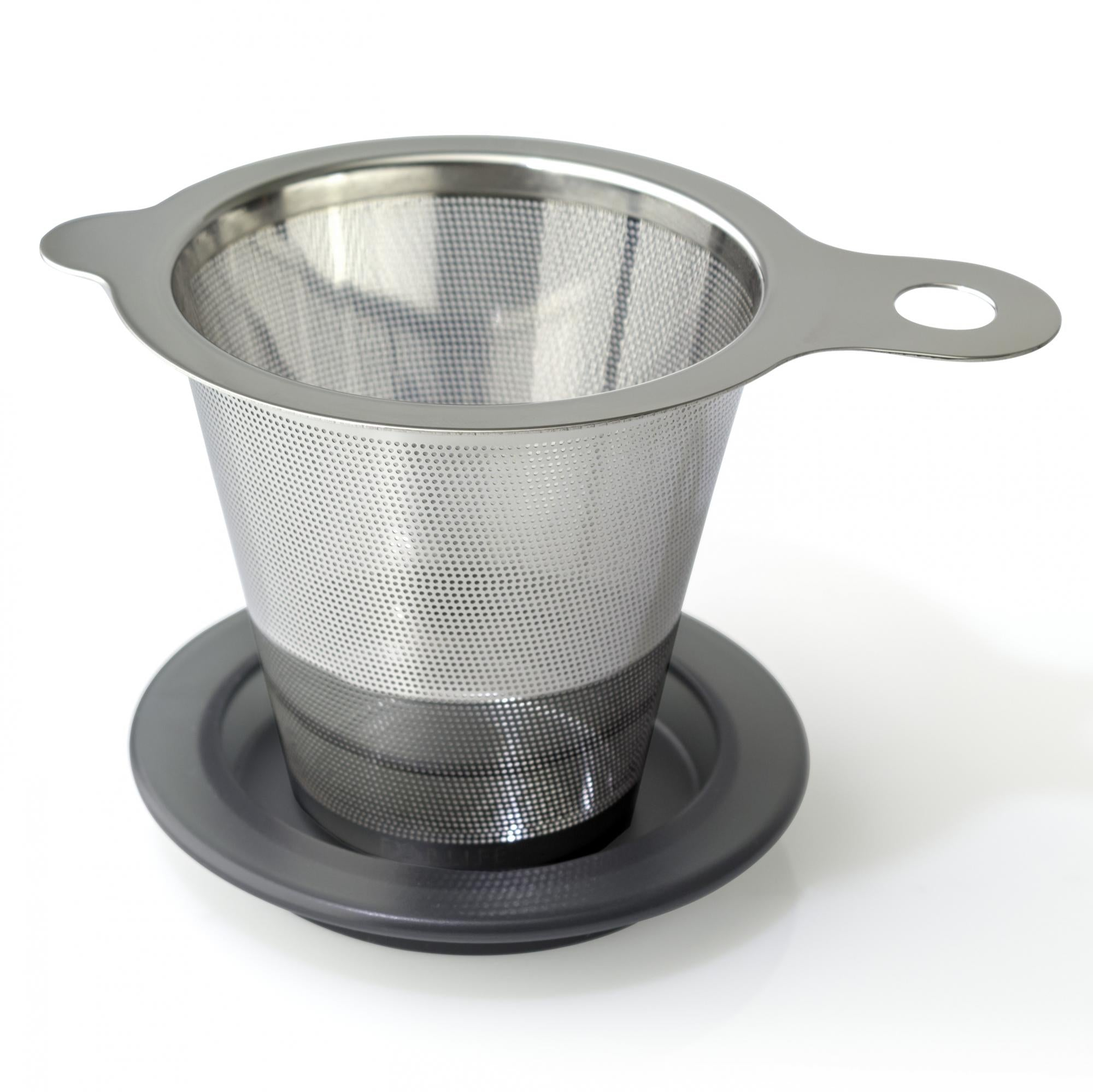 One-Cup Tea Infuser w/ Lid/Saucer