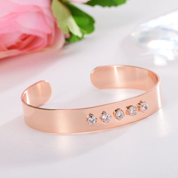 Fashion Jewelry Luxury Stainless Steel Crystal
