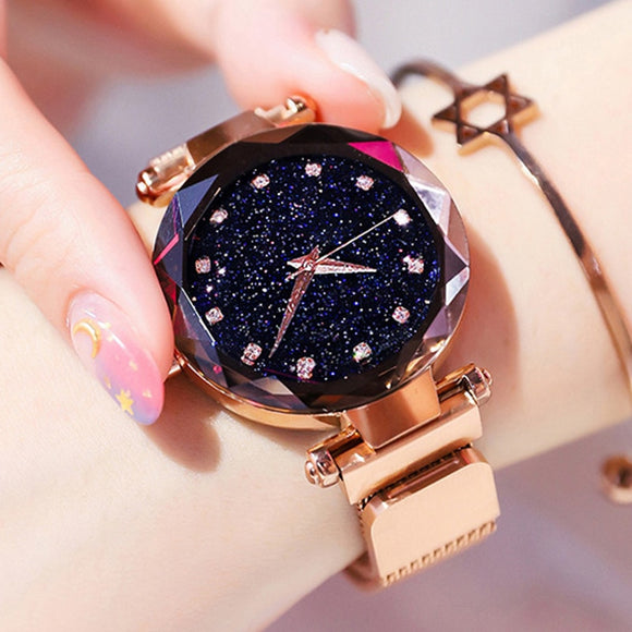 Luxury Magnetic Wristwatch with Diamonds