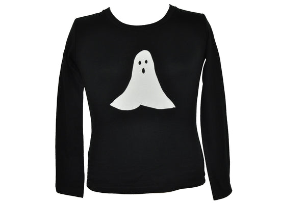 White Ghost Long Sleeve Shirt