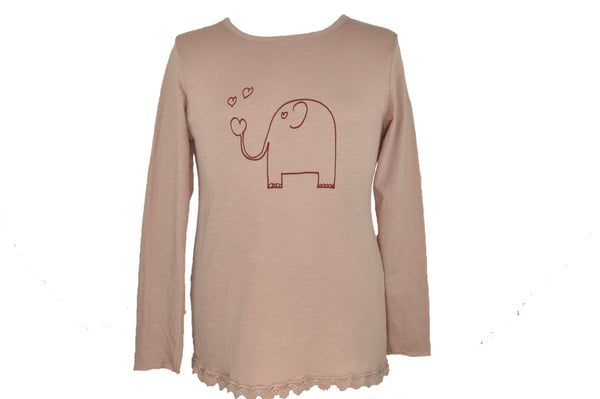 Garnet Elephant Long Sleeve Shirt