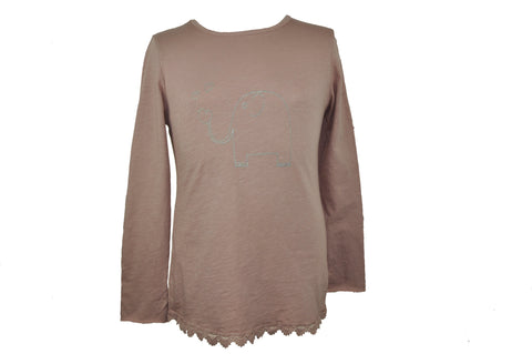 Silver Elephant Pink Long Sleeve Shirt