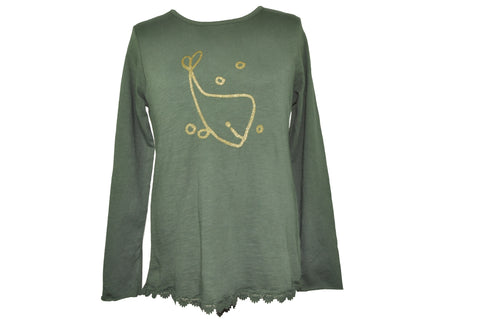 Gold Whale Long Sleeve Shirt