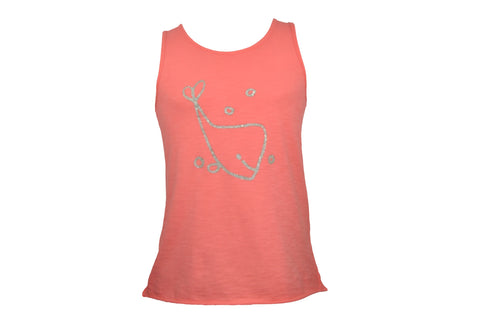 Silver Whale Coral Tank Top
