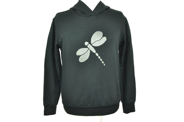 Silver Dragonfly Hoodie