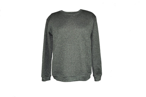 Metallic Gray Sweatshirt
