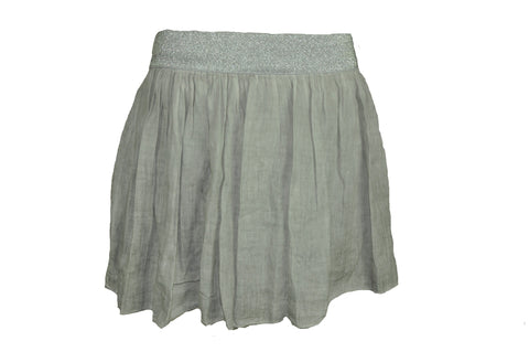 Light Gray Cotton Skirt