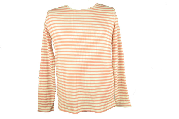 Pink and Raw Stripes Long Sleeve Shirt