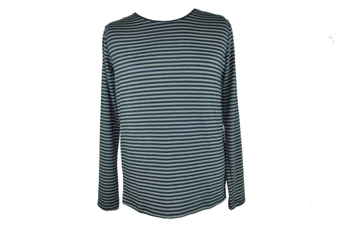 Gray and Blue Stripes Long Sleeve Shirt