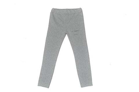 Legging color gris claro con detalle brillante