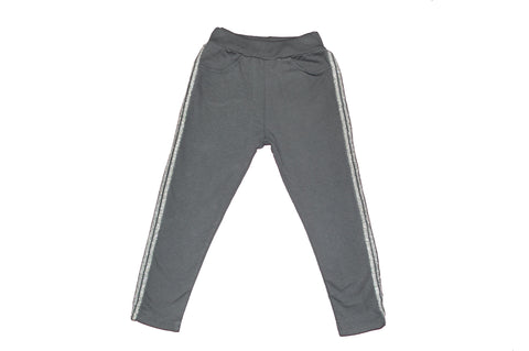 Gray pants whit shiny side stripes