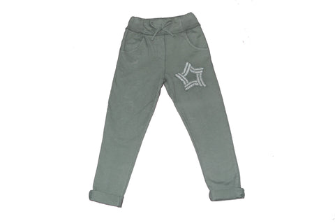 Shiny star khaki pants