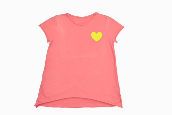 Yellow heart T-shirt
