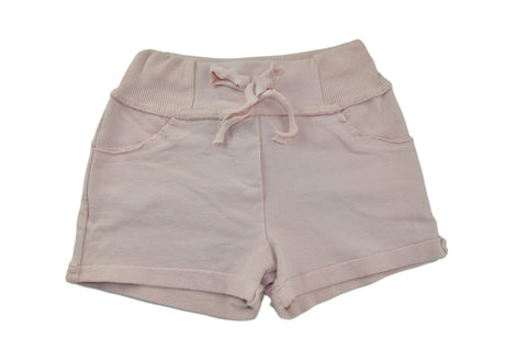 Pale Pink Cotton Shorts