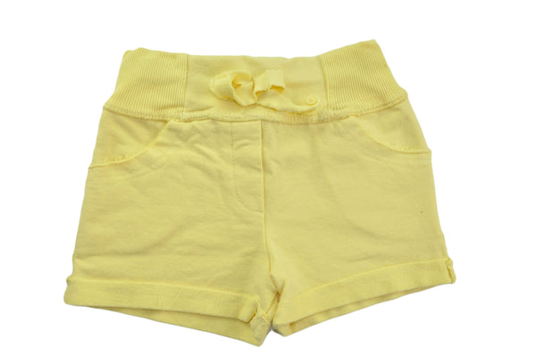 Yellow Cotton Shorts