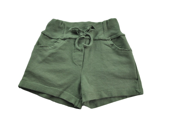 Khaki Cotton Shorts