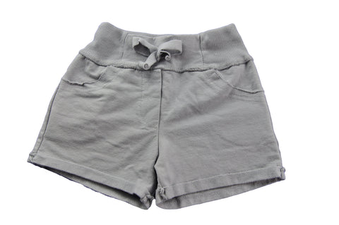 Gray Cotton Shorts