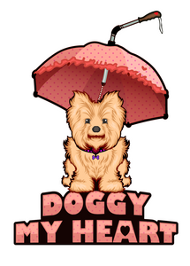 logo for doggy my heart doggymyheart.com of dog umbrella leash