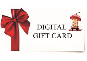 """A Gift Card"" The Ultimate Gift for Doggy Lovers $25 $50 $100"