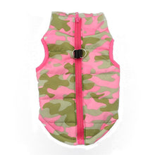 Load image into Gallery viewer, Fashion Camouflage Dog Clothes Pink Jacket vest outfit