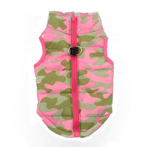 Fashion Camouflage Dog Clothes Pink Jacket vest outfit