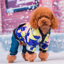 Load image into Gallery viewer, Warm Camouflage Dog Hoodie Fleece Lined Coat/ Sweater Jumpsuit Apparel Jacket