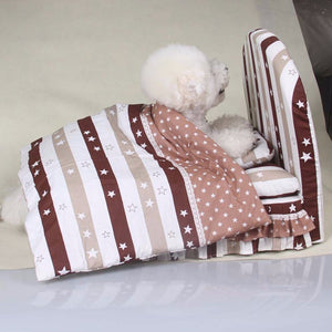 Doggy Bed Set for dogs luxury Princess sofa Bed  (Pet bed + pillow + blanket)