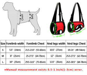 Dogs Front & rear Carrier, Dog Harness, Dogs Lift Support Rehabilitation Harness Helping Support for Elderly or Arthritis Dogs
