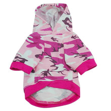 Load image into Gallery viewer, Dog Cotton Camouflage Hoody Jacket Dog Hoodies