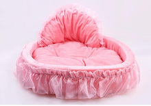 Load image into Gallery viewer, Breathable Pet dog bed House washable warm Soft Winter lace princess Dog Bed Doggy  Nest