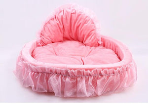Breathable Pet dog bed House washable warm Soft Winter lace princess Dog Bed Doggy  Nest