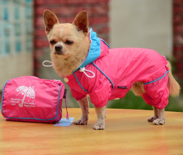 Doggy Hoody Jacket, Rain Coat Waterproof Jumpsuit Apparel dog clothes dog raincoats