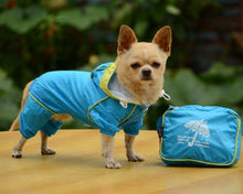 Load image into Gallery viewer, Doggy Hoody Jacket, Rain Coat Waterproof Jumpsuit Apparel dog clothes dog raincoats