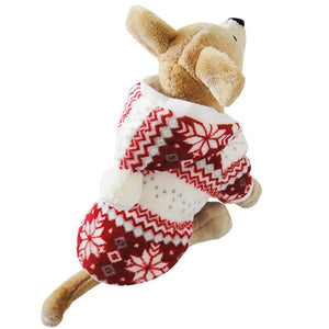Very Soft Warm Dog Sweater Hoody Cozy Snowflake Jacket Teddy Hoodie Coat XS,S,M,L,XL