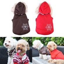 Load image into Gallery viewer, Warm Small Dog Coat Winter Snowflake Hoodie Clothes Apparel