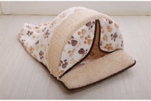 Load image into Gallery viewer, Pet Dog Bed washable Warming Dog House Soft Material Pet Nest all seasons Nest Puppy nest with curtain