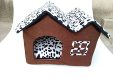 Load image into Gallery viewer, Cozy Dog House with Soft Bed,  Folding Dog House/Bed.