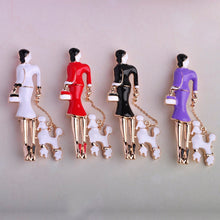 Load image into Gallery viewer, Elegant 5 Colors, Enamel  Brooches Gold-color Accessories Women With dog Shape Brooch Pins