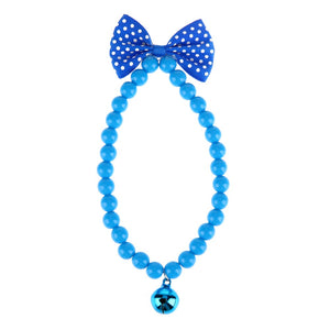 Dog Collars Jewelry Acrylic Beads Necklace Collars With Bells pet Product  dog collar