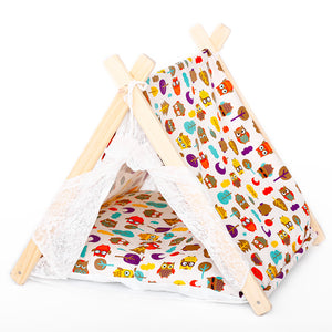 Dog House Herringbone Owl Prints Tent Four Seasons General Lovely Shape Suitable For Small Dogs