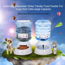 Load image into Gallery viewer, 3.5L Pet Dog Automatic Food and Water Dispenser Feeder Feeding Bowls For Dogs Large Capacity