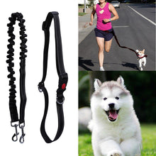 Load image into Gallery viewer, Reflective Pet Dog Traction Rope Training Elastic Dog Collar Belt Leash Adjustable Dog Pets Walk Running Leash